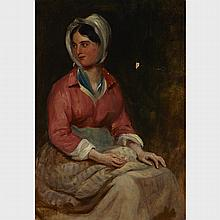 Sir Edwin Henry Landseer (1802-1873), PORTRAIT OF A YOUNG WOMAN, Oil on canvas; signed and dated 1845 lower left, 18