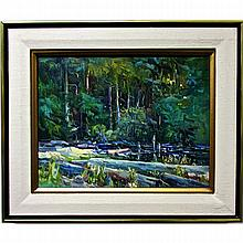 DOROTHY McKAY (CANADIAN, 20TH CENTURY), ALBERT HEAD LAGOON, OIL ON CANVAS; SIGNED LOWER RIGHT; SIGNED, TITLED AND DATED 1983 VERSO, 15