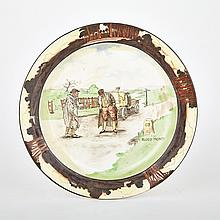 Royal Doulton Motoring Charger, Blood Money', early 20th century, diameter 13.7