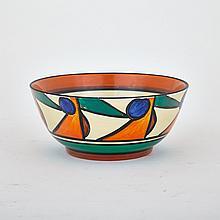 Clarice Cliff 'Bizzare' Bowl c.1930, diameter 6.9