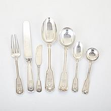 American Silver 'Shell and Thread' Pattern Flatware, Tiffany & Co., New York, N.Y., early 20th century (67 Pieces)