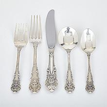 American Silver 'Sir Christopher' Pattern Flatware Service, Wallace Silversmiths, Wallingford, Ct., 20th century (50 Pieces)