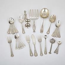 Grouped Lot of Silver Flatware, various makers, 20th century (31 Pieces)