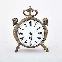 Austrian Gilt and Patinated Bronze Grande Sonnerie Repeating Table Clock, early 19th century, height 6.5