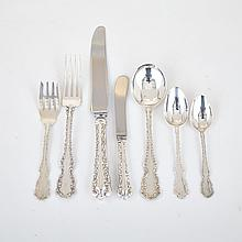 Canadian Silver 'Louis XV' Pattern Flatware Service, Henry Birks & Sons, Montreal, Que., 20th century (85 Pieces)