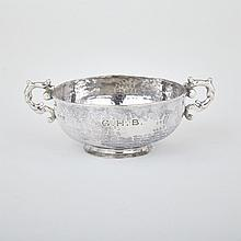 Late Victorian Silver Two-Handled Small Bowl, Nathan & Hayes, Chester, 1897, width 5.7
