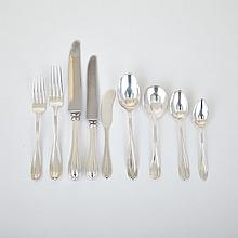 Canadian Silver 'Stratford' Pattern Flatware Service, Roden Bros., Toronto, Ont., early 20th century (60 Pieces)
