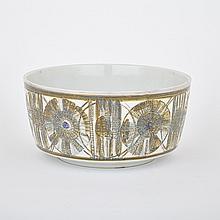 Royal Copenhagen Aluminia Faience Large Bowl, Nils Thorsson, 1960s, diameter 13.4