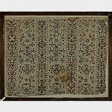 Silver Thread Needlework Panel, late 17th/early 18th century, 20