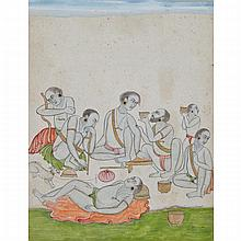 Mughal School, AN ASSEMBLY OF YOGIS, 17TH/18TH CENTURY