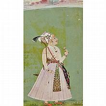 Rajasthan Mewar School, PRINCE HOLDING A PINK FLOWER, 18TH/19TH CENTURY