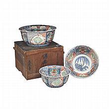 Three Imari Bowls, Meiji Period, Edo Period, Early 19th Century