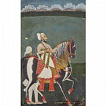 Udaipur School, PRINCE RIDING A HORSE, 18TH CENTURY