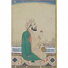 Mughal-Style School, PORTRAIT OF A PRINCE, POSSIBLY 17TH CENTURY