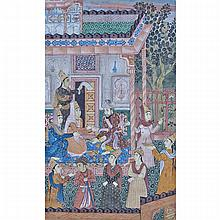 Mughal School, KING WITH COURTIERS, 18TH CENTURY