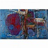 WALTER YARWOOD, UNTITLED, 1958, oil on canvas, laid down on board, 30 ins x 48 ins; 76.2 cms x 121.9 cms
