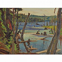 ALEXANDER YOUNG JACKSON, O.S.A., R.C.A., ALGONQUIN PARK, JULY 1932, oil on panel, 10.5 ins x 13.75 ins; 26.7 cms x 34.9 cms
