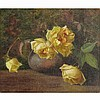 MARY HIESTER REID, O.S.A., A.R.C.A., STILL LIFE WITH WHITE ROSES, oil on canvas, 12.5 ins x 14.5 ins; 31.8 cms x 36.8 cms