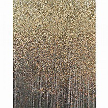 PETER ROTTER, BIRCH GROVE, oil on canvas, 66 ins x 50 ins; 167.6 cms x 127 cms