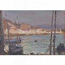 MARC-AURELE DE FOY SUZOR-COTE, R.C.A., VUE DE PASAJES, ESPAGNE, oil on panel, 6.25 ins x 8.75 ins; 15.9 cms x 22.2 cms