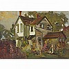 JAMES EDWARD HERVEY MACDONALD, O.S.A., R.C.A., JEH MACDONALD HOUSE ON CENTRE STREET, THORNHILL, oil on board, 7 ins x 10 ins; 17.8 cms x 25.4 cms