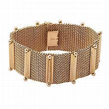 Austrian 18k Rose Gold Strap Bracelet
