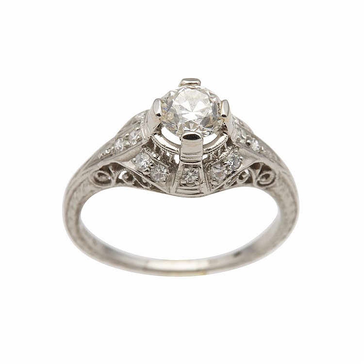 BIRK'S PLATINUM FILIGREE RING