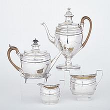 George III Silver Tea and Coffee Service, Robert & David Hennell, London, 1798, height 12.4