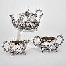 Victorian Silver Chinoiserie Tea Service, Charles Gordon and Francis David Dexter, London, 1840/41, height 6