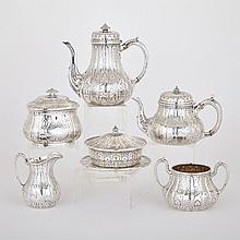 Assembled Victorian Silver Tea and Coffee Service, Robert Garrard, John S. Hunt and Edward & John Barnard London, 1845-51, height 8.5