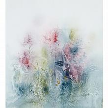 MARJORIE PIGOTT, O.S.A., R.C.A., FOXGLOVES, watercolour, 20.5 ins x 18.5 ins; 52.1 cms x 47 cms