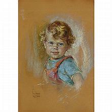 NICHOLAS DE GRANDMAISON, PORTRAIT OF VANCE WHITE, pastel, 17.25 ins x 12 ins; 43.8 cms x 30.5 cms