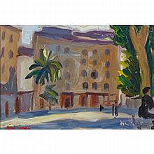 MARJORIE (JORI) ELIZABETH THURSTON SMITH, AJACCIO, CORSICA, oil on board, 4.5 ins x 6.25 ins; 11.4 cms x 15.9 cms