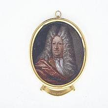 British School Portrait Miniature of Sir William Gage, 2nd Baronet of Hengrave (c.1651-1727) late 17th/early 18th century, 4