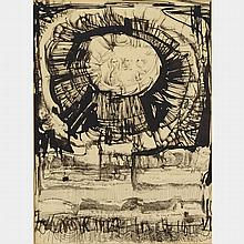 GARY PETER SLIPPER, R.C.A., THE VOICE OF AUTHORITY, brush, pen and ink, 14.25 ins x 11.25 ins; 36.2 cms x 28.6 cms
