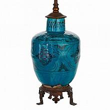 Kashan Turquoise Glazed Jar, Persia, 16th/17th Century