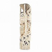 Boar Tusk Carved Handle, Meiji Period, Circa 1900