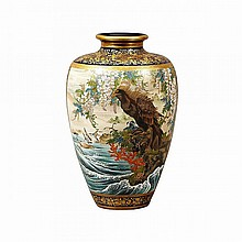 Large Satsuma Vase, Signed Sukosan, Meiji Period, Late 19th Century