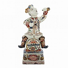 Rare Ko-Imari Wine Jar With Figure of Bacchus, Edo Period, 18th Century