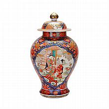 Imari Figural Jar and Cover, Edo Period, 19th Century