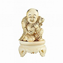 Ivory Netsuke of a Karako, 19th Century