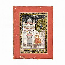 Amber School, FROM A RAGAMALA SERIES, MADHUMADHAVAI RAGA, LATE 18TH/19TH CENTURY