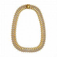 Italian 18k Yellow Gold Mesh Necklace