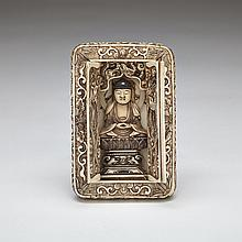 Ivory Carved Portable Shrine Case, Meiji Period, Late 19th Century, 4.1