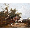 William Shayer Sr. (1787-1879), GYPSY ENCAMPMENT, Oil on canvas; signed lower left, 20