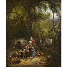 William Shayer Sr. (1787-1879), IN THE NEW FOREST, Oil on canvas; signed and dated 1840 lower left, 30