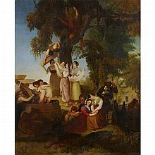 Joseph Severn (1793-1872), THE VINTAGE (ALSO KNOWN AS THE VINTAGE AT GENSANO IN ITALY), 1824-1825, Oil on canvas; titled
