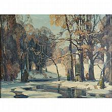 John Fabian Carlson (1875-1947), SUNLIT WATERS, Oil on canvas; signed lower right, titled to gallery label verso, 30