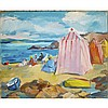 Anne Estelle Rice (1879-1959), BEACH BRITTANY, Oil on panel; signed lower left, signed and titled on the remains of the artist's label verso, titled to gallery label verso. Unframed., 14.25