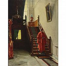 Ferdinand Brutt (1849-1936), CARDINAL DESCENDING STAIRS, 1879, Oil on canvas; signed and dated 79 lower left, titled to gallery label verso, 22